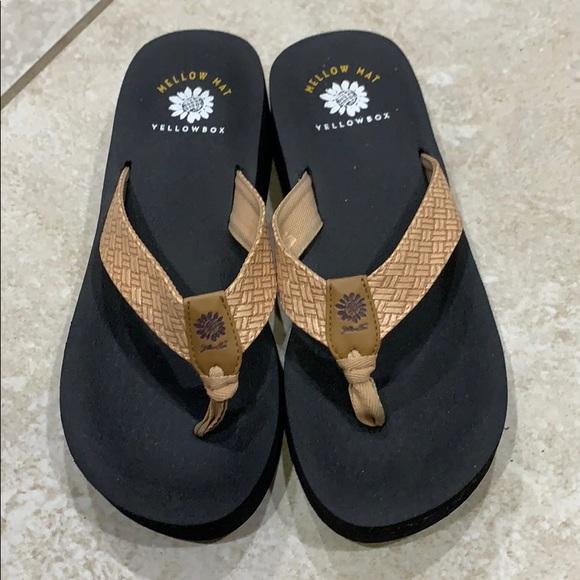Yellow Box Mellow Mat Platform Sandals